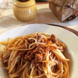 Spaghetti con ragu